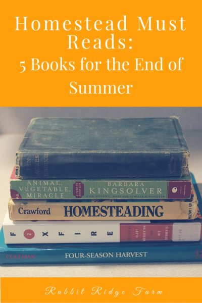 Homestead Must-Reads: 5 Books for the End of Summer